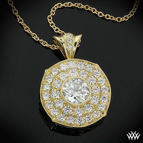 Yellow Gold Bella Diamond Pendant