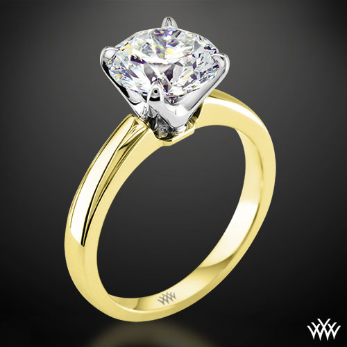 Yellow Gold Broadway Solitaire Engagement Ring