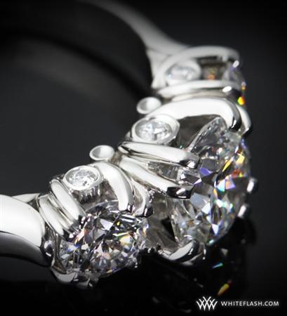 3-Stone 'U-Prong' Diamond Engagement Ring