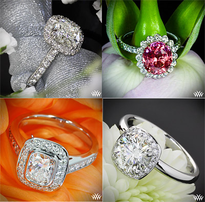 Halo Engagement Rings Variety