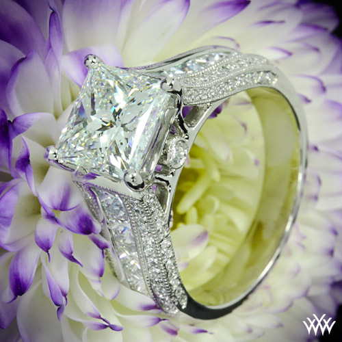 Custom Princess Cut Diamond Engagement Ring