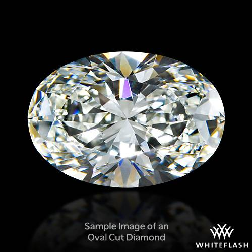 0.70 ct H SI1 Oval Cut Loose Diamond