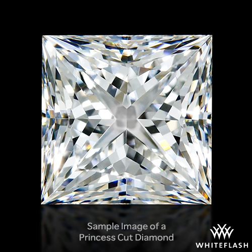 1.507 ct F SI1 A CUT ABOVE® Princess Super Ideal Cut Diamond