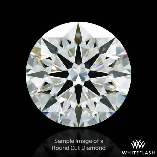 0.46 ct F SI1 A CUT ABOVE® Hearts and Arrows Super Ideal Round Cut Loose Diamond
