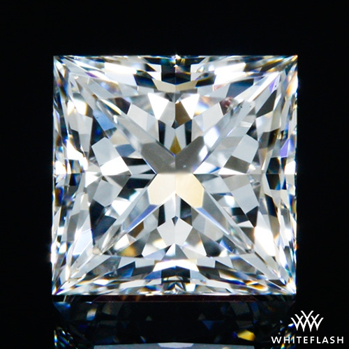 0.711 ct F VS2 A CUT ABOVE® Princess Super Ideal Cut Diamond