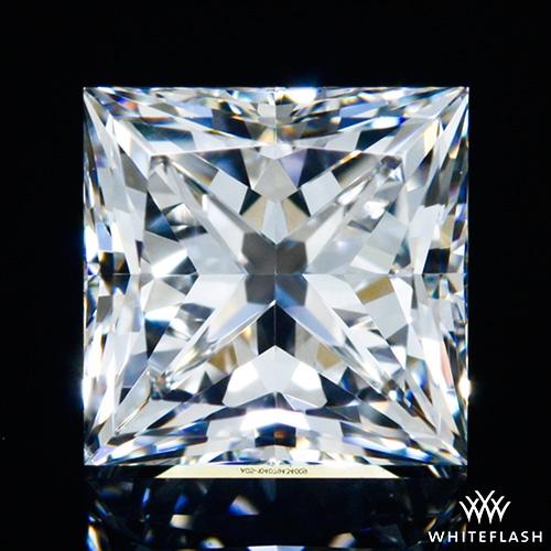 0.841 ct F VS2 A CUT ABOVE® Princess Super Ideal Cut Diamond
