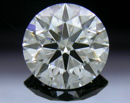 0.901 ct F SI1 A CUT ABOVE® Hearts and Arrows Super Ideal Round Cut Loose Diamond