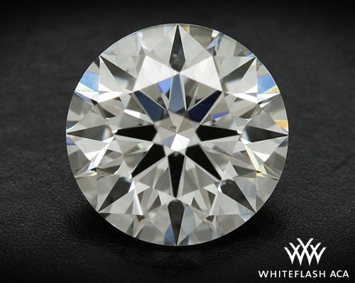 0.555 ct G SI1 A CUT ABOVE® Hearts and Arrows Super Ideal Round Cut Loose Diamond