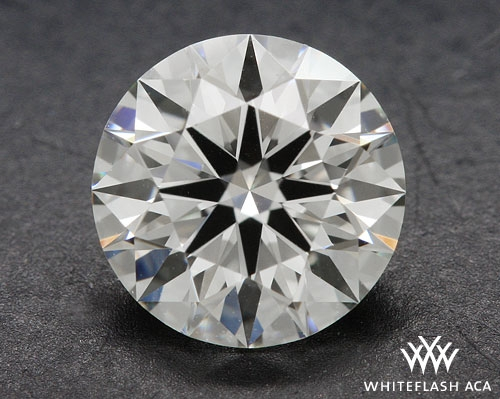 0.91 ct J VS2 A CUT ABOVE® Hearts and Arrows Super Ideal Round Cut Loose Diamond
