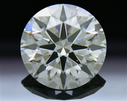 0.585 ct H SI1 A CUT ABOVE® Hearts and Arrows Super Ideal Round Cut Loose Diamond