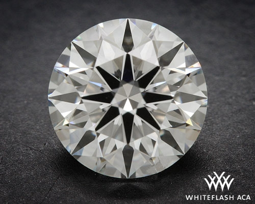 0.916 ct H SI1 A CUT ABOVE® Hearts and Arrows Super Ideal Round Cut Loose Diamond