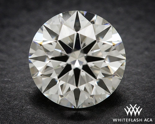 0.707 ct H SI1 A CUT ABOVE® Hearts and Arrows Super Ideal Round Cut Loose Diamond