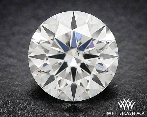 0.703 ct H SI1 A CUT ABOVE® Hearts and Arrows Super Ideal Round Cut Loose Diamond