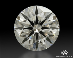 1.295 ct I SI1 A CUT ABOVE® Hearts and Arrows Super Ideal Round Cut Loose Diamond