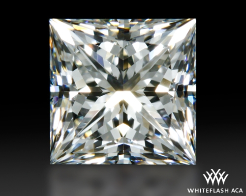 0.706 ct F SI1 A CUT ABOVE® Princess Super Ideal Cut Diamond