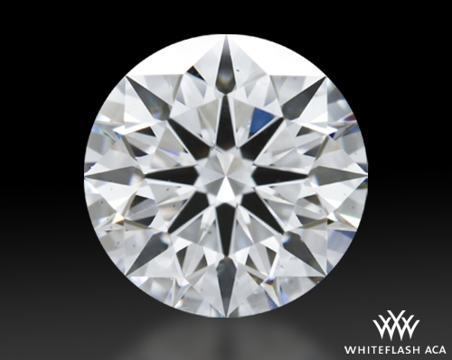 1.586 ct F SI1 A CUT ABOVE® Hearts and Arrows Super Ideal Round Cut Loose Diamond