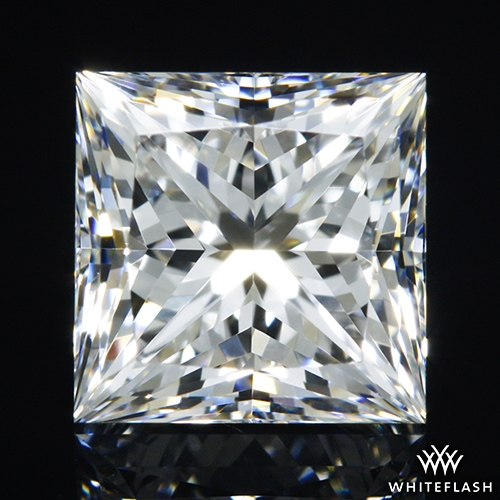 0.756 ct E IF A CUT ABOVE® Princess Super Ideal Cut Diamond