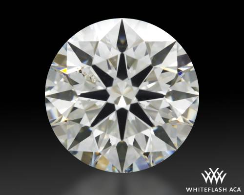 0.716 ct H SI1 A CUT ABOVE® Hearts and Arrows Super Ideal Round Cut Loose Diamond