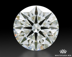 0.678 ct F SI1 A CUT ABOVE® Hearts and Arrows Super Ideal Round Cut Loose Diamond