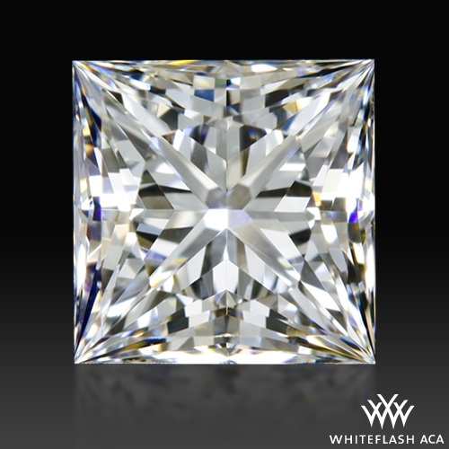 0.747 ct F VS2 A CUT ABOVE® Princess Super Ideal Cut Diamond