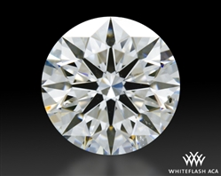0.838 ct F SI1 A CUT ABOVE® Hearts and Arrows Super Ideal Round Cut Loose Diamond