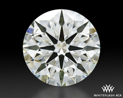1.224 ct J SI1 A CUT ABOVE® Hearts and Arrows Super Ideal Round Cut Loose Diamond