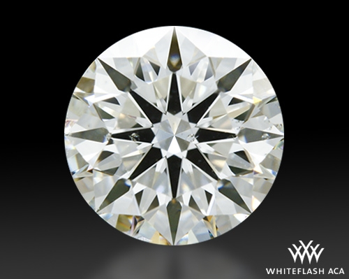 1.241 ct J SI1 A CUT ABOVE® Hearts and Arrows Super Ideal Round Cut Loose Diamond