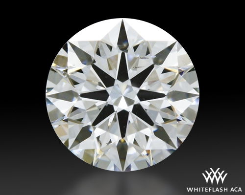0.514 ct F SI1 A CUT ABOVE® Hearts and Arrows Super Ideal Round Cut Loose Diamond