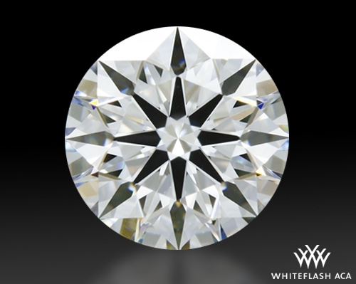 0.57 ct F SI1 A CUT ABOVE® Hearts and Arrows Super Ideal Round Cut Loose Diamond