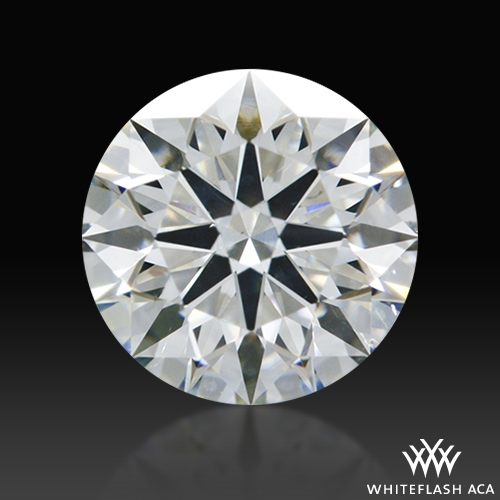 0.66 ct H SI1 A CUT ABOVE® Hearts and Arrows Super Ideal Round Cut Loose Diamond