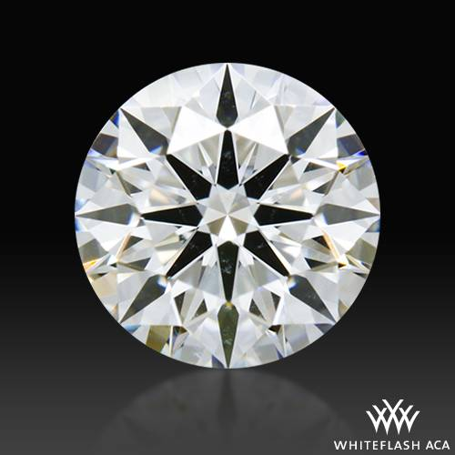 0.658 ct G SI1 A CUT ABOVE® Hearts and Arrows Super Ideal Round Cut Loose Diamond