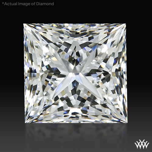 0.733 ct F SI1 A CUT ABOVE® Princess Super Ideal Cut Diamond