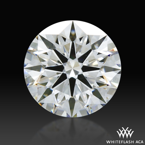0.721 ct D SI1 A CUT ABOVE® Hearts and Arrows Super Ideal Round Cut Loose Diamond
