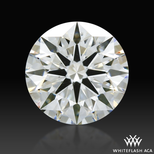 0.616 ct H SI1 A CUT ABOVE® Hearts and Arrows Super Ideal Round Cut Loose Diamond