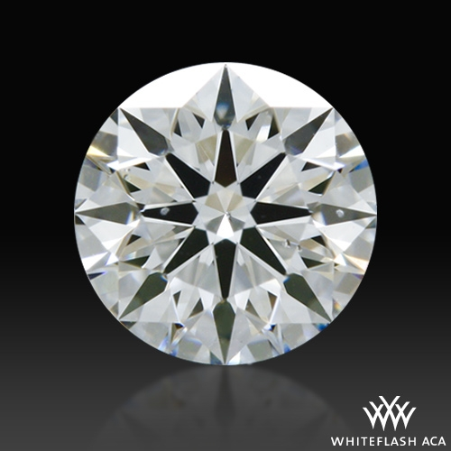 0.424 ct F SI1 A CUT ABOVE® Hearts and Arrows Super Ideal Round Cut Loose Diamond