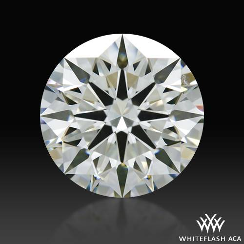 1.291 ct J SI1 A CUT ABOVE® Hearts and Arrows Super Ideal Round Cut Loose Diamond