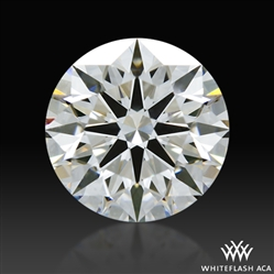 1.237 ct G VS2 A CUT ABOVE® Hearts and Arrows Super Ideal Round Cut Loose Diamond