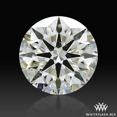 0.808 ct H SI2 A CUT ABOVE® Hearts and Arrows Super Ideal Round Cut Loose Diamond