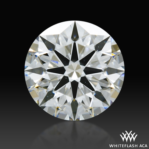 0.537 ct G SI1 A CUT ABOVE® Hearts and Arrows Super Ideal Round Cut Loose Diamond