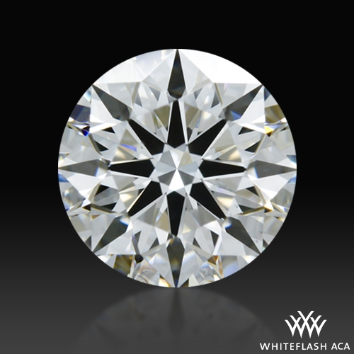 0.717 ct E VS1 A CUT ABOVE® Hearts and Arrows Super Ideal Round Cut Loose Diamond