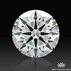1.246 ct F VS1 A CUT ABOVE® Hearts and Arrows Super Ideal Round Cut Loose Diamond