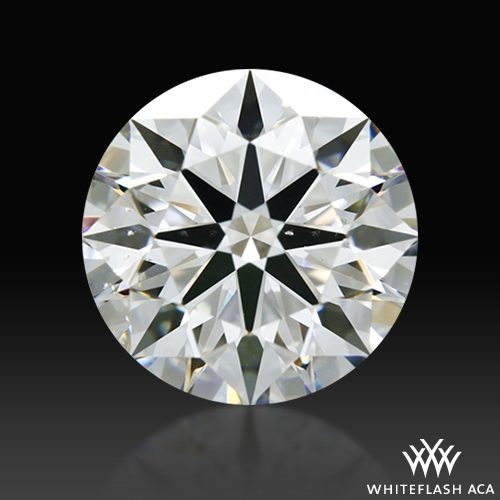 1.247 ct H SI1 A CUT ABOVE® Hearts and Arrows Super Ideal Round Cut Loose Diamond