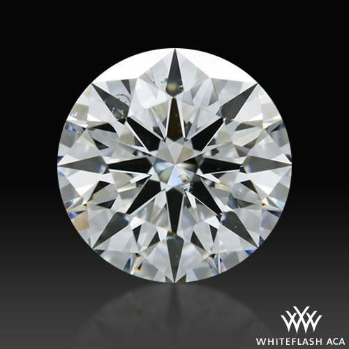 0.908 ct F SI1 A CUT ABOVE® Hearts and Arrows Super Ideal Round Cut Loose Diamond