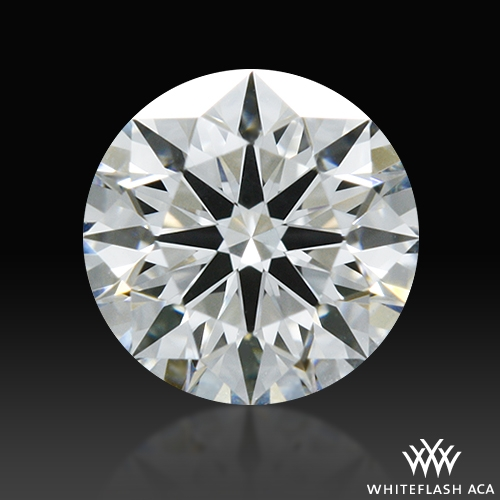 0.358 ct G VS2 A CUT ABOVE® Hearts and Arrows Super Ideal Round Cut Loose Diamond
