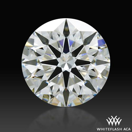 0.346 ct J VS2 A CUT ABOVE® Hearts and Arrows Super Ideal Round Cut Loose Diamond