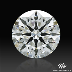 1.302 ct H SI2 A CUT ABOVE® Hearts and Arrows Super Ideal Round Cut Loose Diamond