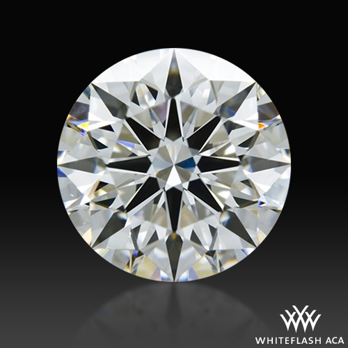 1.307 ct F VS1 A CUT ABOVE® Hearts and Arrows Super Ideal Round Cut Loose Diamond