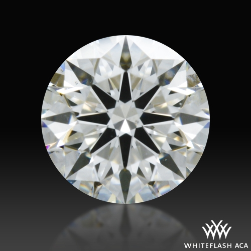 0.358 ct G SI1 A CUT ABOVE® Hearts and Arrows Super Ideal Round Cut Loose Diamond