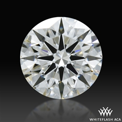 0.317 ct F SI1 A CUT ABOVE® Hearts and Arrows Super Ideal Round Cut Loose Diamond