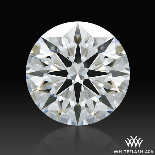 1.213 ct F SI1 A CUT ABOVE® Hearts and Arrows Super Ideal Round Cut Loose Diamond